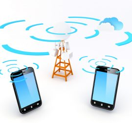 A cellular network or mobile network is a radio network distributed over land areas called cells, each served by at least one fixed-location transceiver, known as a cell site or base station. In a cellular network, each cell uses a different set of frequencies from neighboring cells, to avoid interference and provide guaranteed bandwidth within each cell.  Note: All Devices design and all screen interface graphics in this picture are designed by the contributor him self.